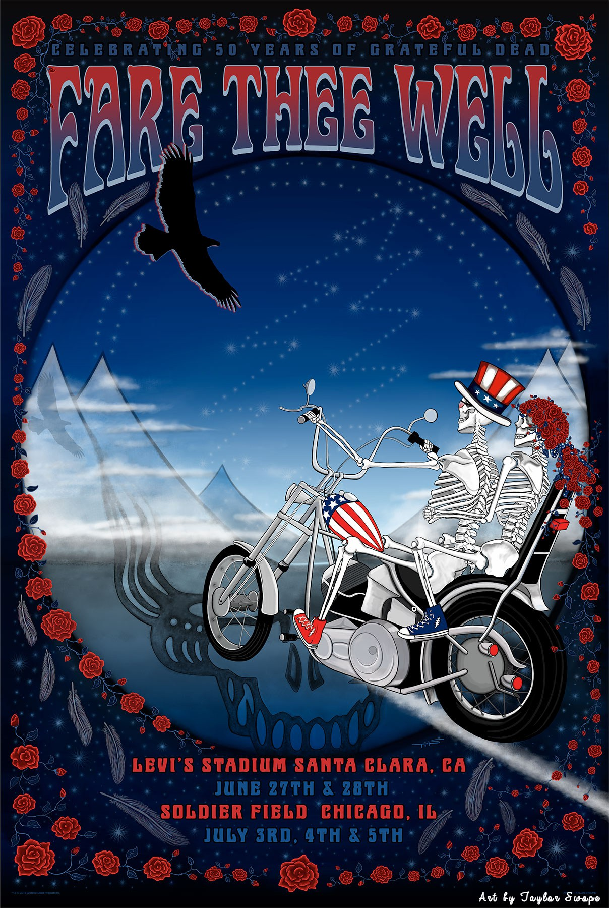 Taylor Swope's Official Fare Thee Well Poster